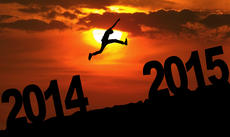 Person jumping over 2015